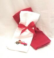 2- Autumn/Fall Red Pickup Truck Harvest Kitchen Hand Towels