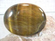 Golden Tigers Eye Palm Stone Crystal Reiki Protection Balance Creativity 26364E