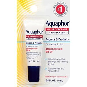 Aquaphor Lip Protectant + Sunscreen, SPF 30, 0.35 oz