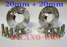KIT 4 DISTANZIALI RUOTA 20+20mm ALFA ROMEO 147 GTA Bullone CONICO