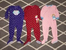 Carter's Baby Girls 2T Toddler 24 Months Pajamas Zip Sleeper Pjs Pink Purple Red