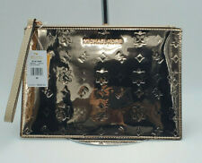 NWT New Michael Kors Extra Large Clutch Wristlet Rose Gold