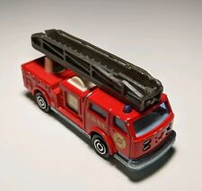Majorette Red Pompier #207 Fire Engine Ladder Truck FDNY Emergency 1/100 Diecast