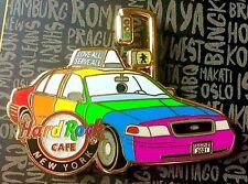 2021 HARD ROCK CAFE NEW YORK CITY GAY PRIDE RAINBOW FLAG TAXI CAB LE PIN