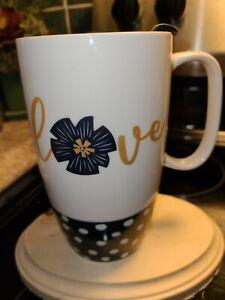 Coffee travel mug/cup, ceramic  Love  with lid