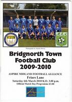 Bridgnorth Town v Friars Lane 2009/10 (6 Mar) Midland Football Alliance