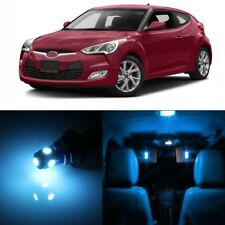 10 x Ice Blue Interior LED Light Package For 2012 - 2017 Hyundai Veloster +TOOL