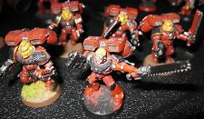 40K Space Marines Blood Angels Assault Squad A painted