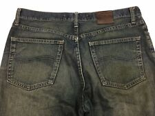 Vintage Lee Riveted Green Jeans Men Size 33x32 Relaxed Straight Leg Classic
