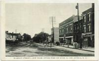 Postcard Attica New York Market Street One Year After the Fire of June 23, 1907