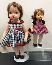 16 & 10� Set Of 2 Terri Lee & Tiny Terri Holiday Christmas Dolls W/ Box #S