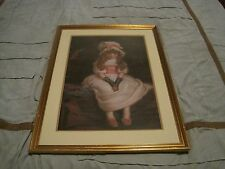 "Pears Victorian Girl ""Cherry Ripe"" framed & Matted Art Print 19x27"""