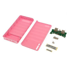 Pink-20000mah Power Bank 18650 Battery Charger DIY for Cell Phones & Pads