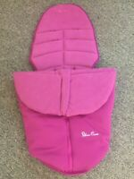 Silver Cross Cosytoe Muff Fleece Lined Surf Footmuff BN IB Foot Muff Raspberry