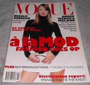 VOGUE MAGAZINE October 1995 Kate Moss BRUCE WEBER Nicole Kidman 90s FASHION UK