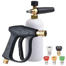 """1/4"""" Snow Foam Lance Cannon Washer Gun Soap Pressure Car Foamer Wash Jet Bottle"""
