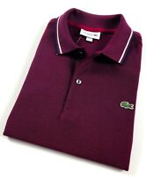 Lacoste Polo Shirt Men's Slim Fit Bordeaux/ Marine Cotton Pique PH1943300-209