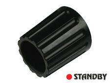 2pcs Classic collet knob 14,5 mm glossy black, ELMA 020-3320, Shaft 4mm, ROHS