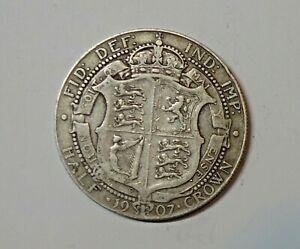 GREAT BRITAIN  SILVER HALF CROWN 1907 . 0.925 SILVER. KM 802