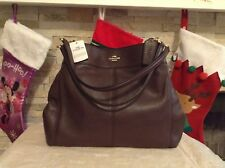 NWT. COACH LEXY PEBBLED  LEATHER SHOULDER BAG HANDBAG OXBLOOD F57545