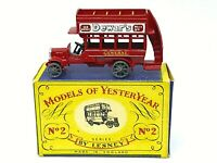 Matchbox Lesney Y2-1 1911 'B' Type London Bus In Type 'A' Box