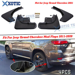 For Jeep Grand Cherokee 2011-2020 Mud Flaps Guards Protectors 4pcs Front & Rear
