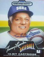 """LA Dodgers"" Tommy Lasorda Hand Signed 8X10 Color Photo Global Authentics COA"