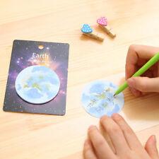 Planet Sticky Note Paper Memo Pad DIY Dairy Album Scrapbooking Label Sticker