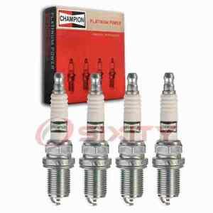 4 pc Champion Platinum Spark Plugs for 1989-2001 Nissan Sentra 1.6L 2.0L L4 sm