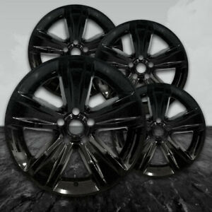 """18"""" Gloss Black Wheel Skin Kit fits 2016-2017 Dodge Charger - ABS 2521 4 pack"""