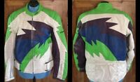 Teknic Leather Perforated Motocross Motorcycle Jacket - Colorful -Men's Sz 52/62