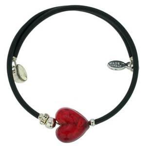 GlassOfVenice Murano Glass Venetian Glamour Heart Bracelet - Red