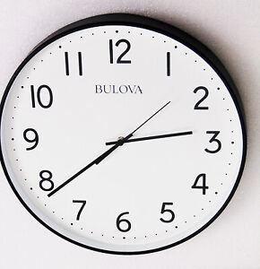 "NEW  BULOVA LARGE WALL CLOCK  16"" IN DIAMETER- ""OFFICE MATE"" C4832"