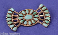 Navajo Indian Bow-Tie Shaped Turquoise Pin c.1940