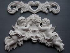 Shabby Chic querubines y flores Sculpte desplazamiento/Muebles/Espejo/Molduras