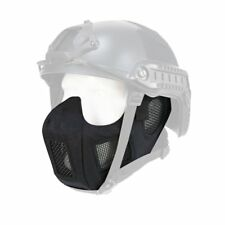 Airsoft Tactical Helmet Adapter Protective Half Face Ear Conquer Mask Black