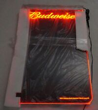 Budweiser Electric Dry Erase Lighted Illuminated Menu Board Wall Hanger RED Neon