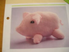 KNITTING PATTERN FOR PIGGY TOY.