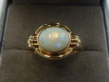 VINTAGE/Antico 18ct Oro Giallo Opale Anello Taglia O 3.9 GRAMMI