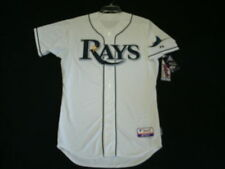 TAMPA BAY RAYS AUTHENTIC MLB JERSEY SIZE 52 2XL, ON FIELD MADE IN USA 6300