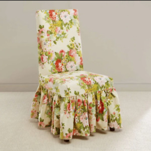 Sure Fit Waverly Juliet Dining Chair Slipcover Bliss floral pink green blue NEW