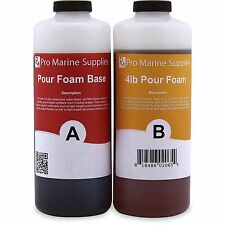 Pour Foam 4 LB Density - Liquid Urethane Insulation Marine Grade - 2 Quart Kit