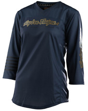 TROY LEE DESIGNS TLD WOMENS CHARCOAL MISCHIEF 3/4 MTB CYCLE JERSEY size LARGE