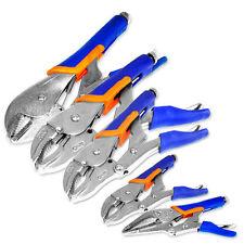 5pc Locking Plier Soft Grip w/ Vise Jaws Locking  Adjustable Grips Tool Set