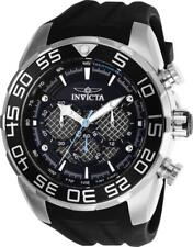 Invicta Men's Watch Speedway Black and Silver Tone Dial Rubber Strap 26314