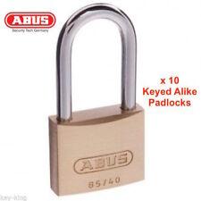 ABUS Keyed Alike Padlocks-Bulk Lot x 10 Abus Padlock-Free Postage! -6540HB40KA2