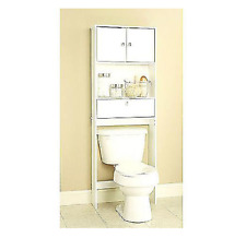 NEW Bathroom Over The Toilet Space Saver Storage Cabinet Shelf Organizer White