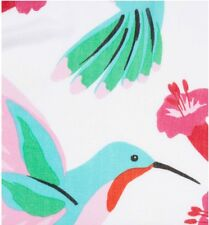 """Kate Spade New York """"Hummingbird"""" Oblong Scarf Floral Print Red Borders Lovely!"""