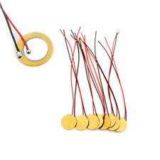 20Pcs Dia 15mm Piezo Elements Sounder Sensor Trigger Drum Disc With Flying Lb