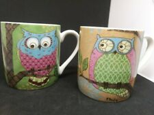 Gourmet Basics Owls by Paul Brent Mikasa Coffee Mug Tea Cup (2 mugs)